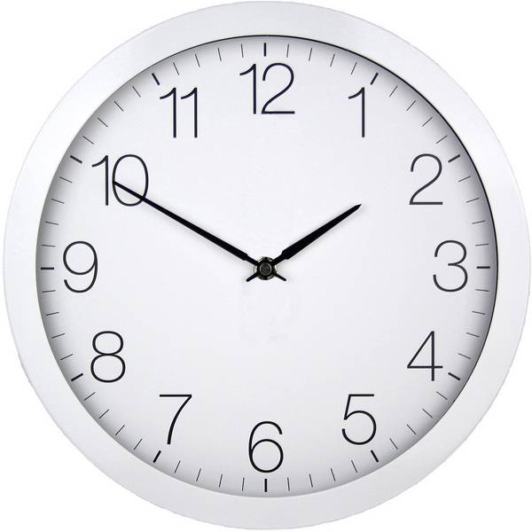 Orologi da parete - EUROTIME 59800 Radiocontrollato Orologio da parete 300 mm Bianco -