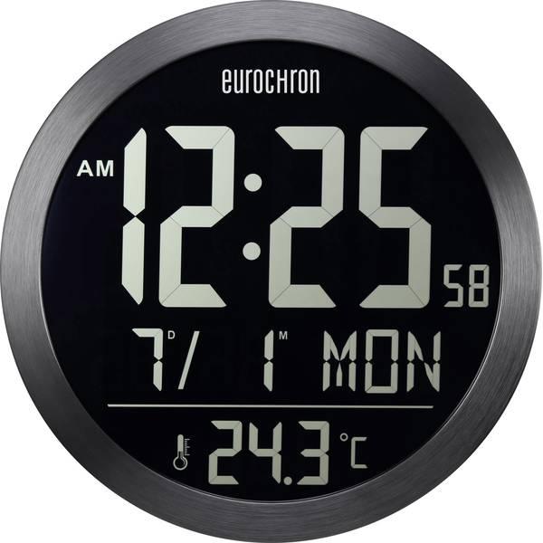 Orologi da parete - Eurochron EFW 5000 Radiocontrollato Orologio da parete 394 mm x 41 mm Nero display negativo -