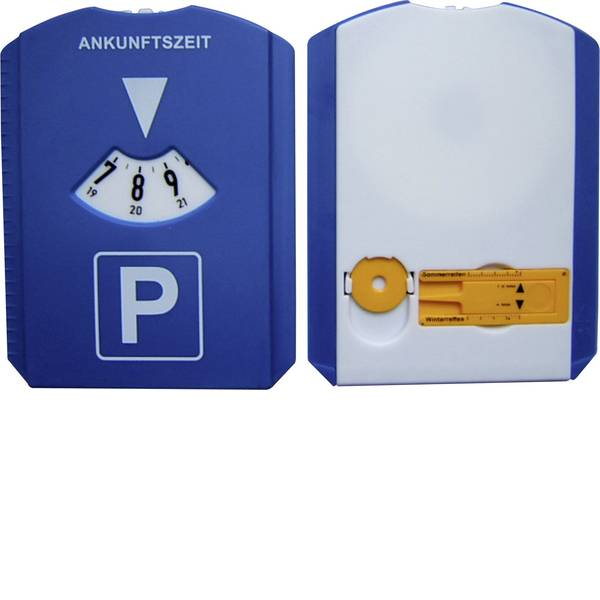 Accessori comfort per auto - Disco orario HP Autozubehör 19944 15 mm x 11 cm con linguetta tergivetro, con misuratore spessore del battistrada, con  -