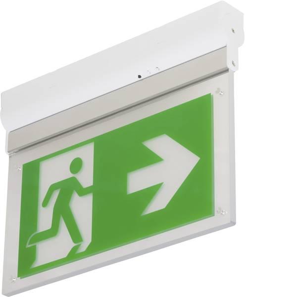 Segnaletica per uscite d`emergenza - B-SAFETY BR599030 Indicazione via di fuga illuminata Montaggio a soffitto, Montaggio a parete verso sinistra, verso  -