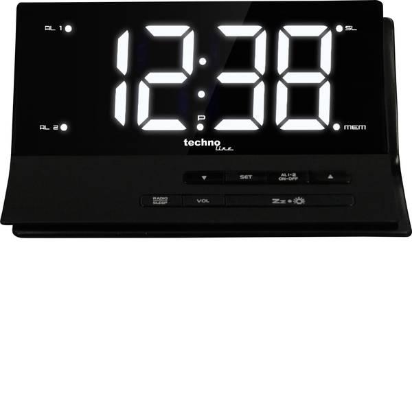 Sveglie - Techno Line WT 482 Radiocontrollato Sveglia Nero Tempi di allarme 2 -
