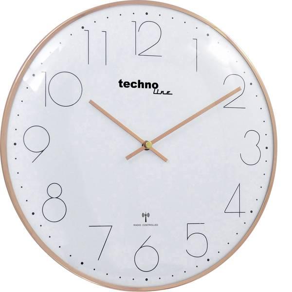 Orologi da parete - Techno Line WT 8235 gold optik Radiocontrollato Orologio da parete 350 mm x 25 mm Rosa oro -