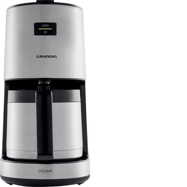 Macchine dal caffè con filtro - Grundig KM 8680 Delisa Macchina per il caffè Acciaio, Nero Capacità tazze=10 Isolato -