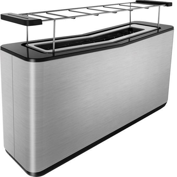 Tostapane - Grundig TA 8680 Tostapane lungo Con funzione tostatura, Con griglia scaldabriosche Acciaio, Nero -