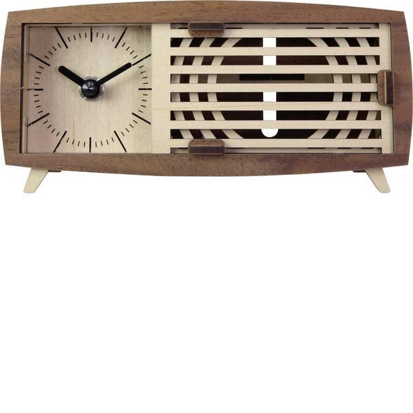 Sveglie - Quarzo Kit orologio da tavolo Rettangolare Basetech Marrone -