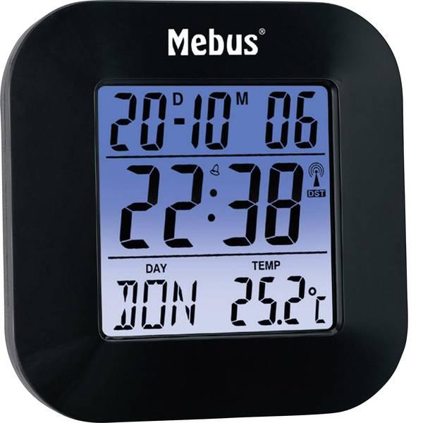 Sveglie - Mebus 51510 Radiocontrollato Sveglia Nero -