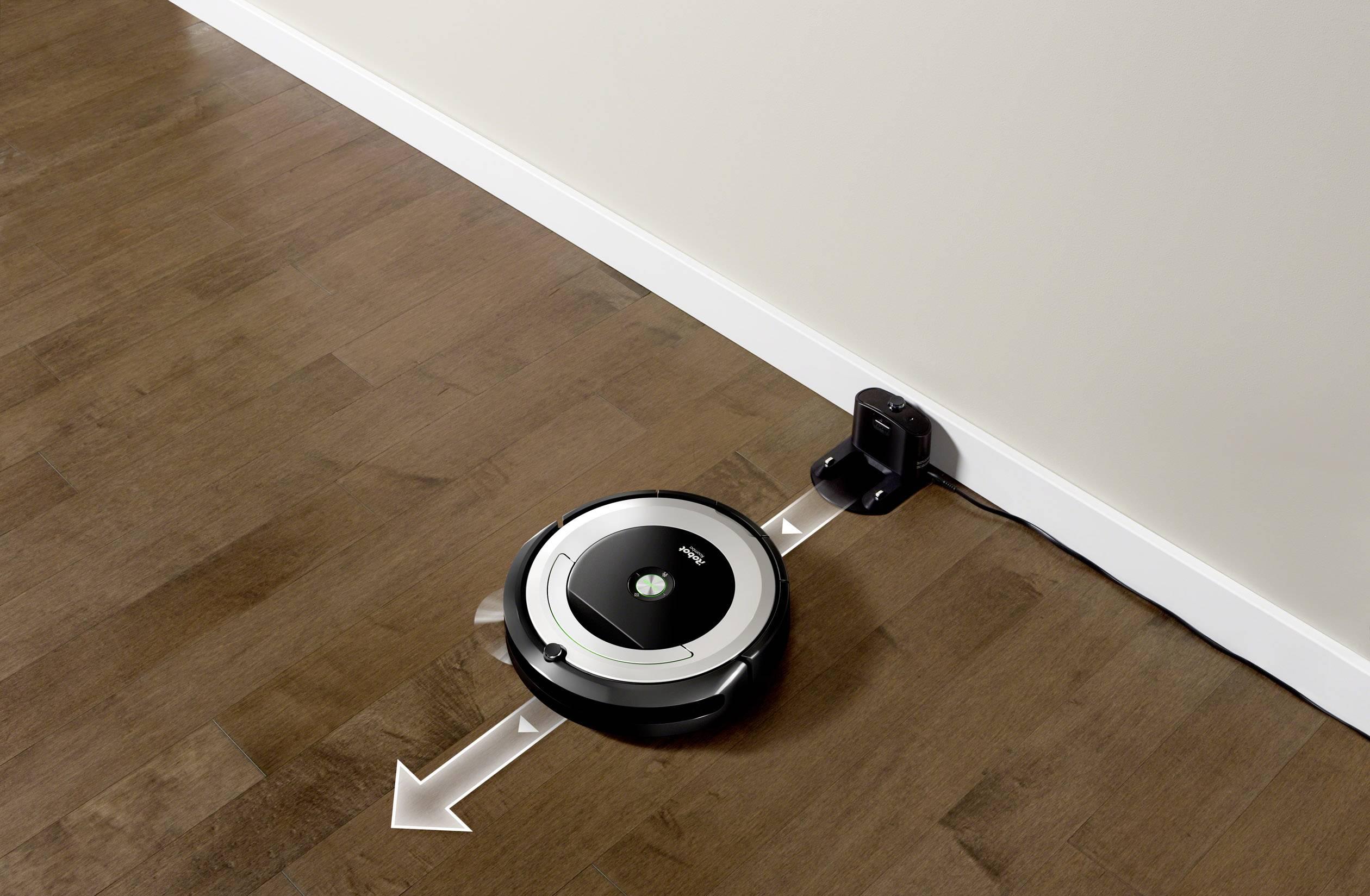 Irobot Roomba 691 Robot Aspirapolvere Nero Argento 1 Parete Virtuale
