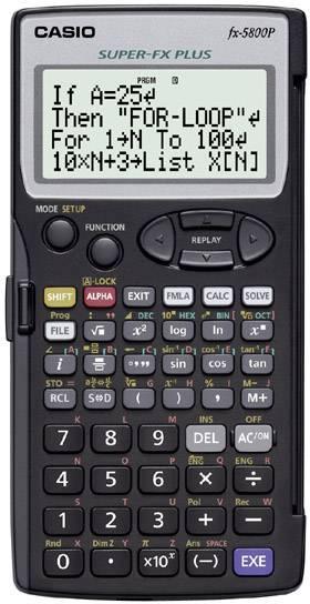 Casio fx-5800P Calcolatrice per la