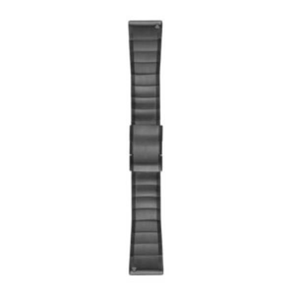 Accessori per fitness tracker - Cinturino di ricambio Garmin QuickFit Edelstahl fenix 5x/3 Grigio Ardesia -