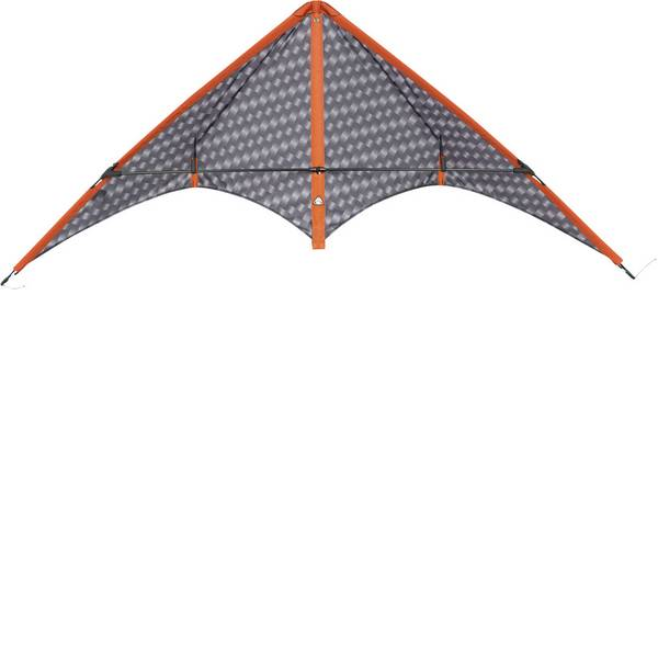 Aquiloni sportivi - Aquilone acrobatico HQ Stormy Pete grafite Larghezza estensione 1400 mm Intensità forza del vento 3 - 6 bft -