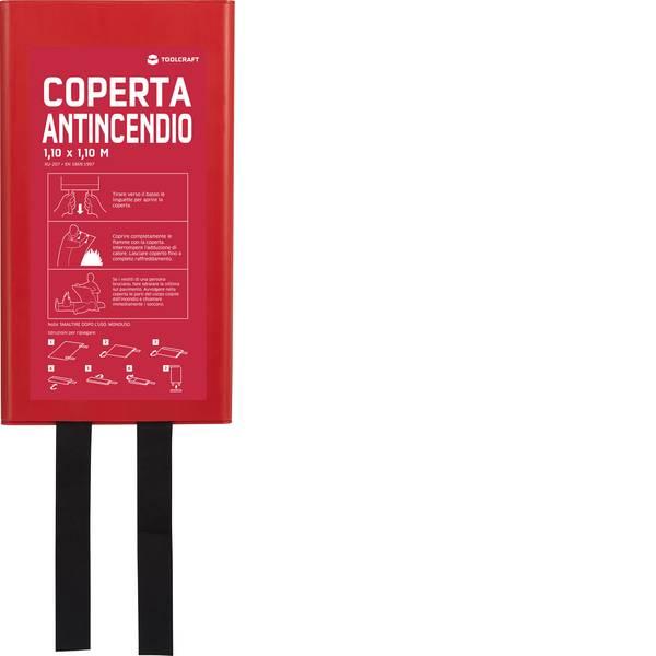 Coperte estinguenti - Coperta antincendio con scatola di montaggio TOOLCRAFT 1577226 -