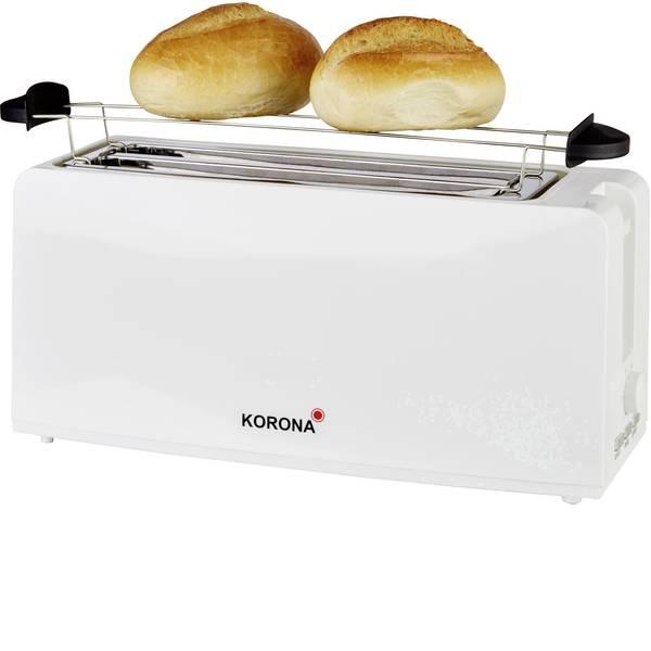 Tostapane - Korona 21043 Tostapane lungo doppio Con griglia scaldabriosche Bianco -