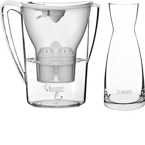Caraffe dell`acqua e cartucce filtranti - Caraffa filtrante BWT PENGUIN + glass carafe 0815086 2.7 l Bianco -