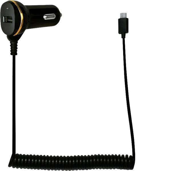 Accessori per presa accendisigari - LogiLink Alimentatore USB per auto con cavo micro-USB e porta USB Portata massima corrente=2.1 A -