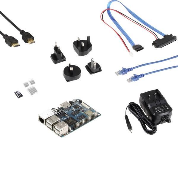 Schede di sviluppo e Single Board Computer - Banana Pi BPI-M2 Berry BPM2B-Startset 1 GB 4 x 1.20 GHz incl. cavo HDMI, incl. cavo di alimentazione, incl. dissipatore,  -