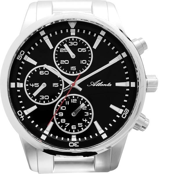 Orologi da parete - Atlanta Uhren 4405 Cronografo Orologio da parete 430 mm x 370 mm x 55 mm Argento -