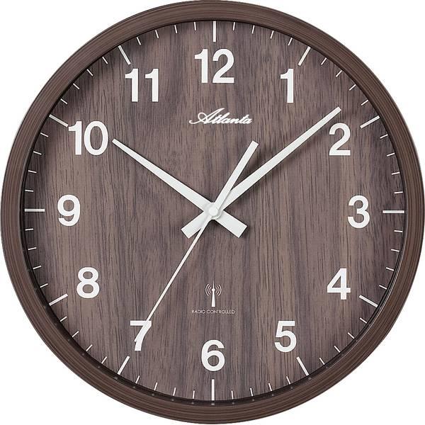 Orologi da parete - Atlanta Uhren 4438/20 Radiocontrollato Orologio da parete 300 mm Noce -
