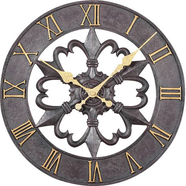 Orologi da parete - Atlanta Uhren 4445 Quarzo Orologio da parete 300 mm Nero -