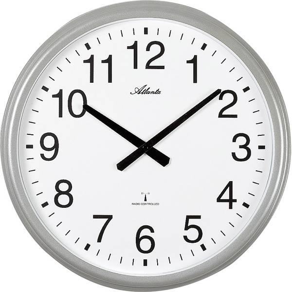 Orologi da parete - Atlanta Uhren 4449 Radiocontrollato Orologio da parete 425 mm Argento (opaco) -