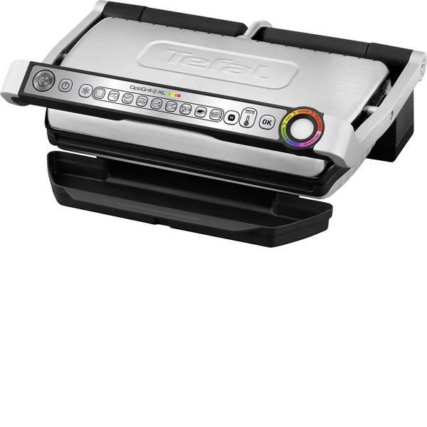 Grill - Tefal Optigrill + XL Elettrico Griglia a contatto regolazione automatica della temperatura Acciaio inox (spazzolato),  -