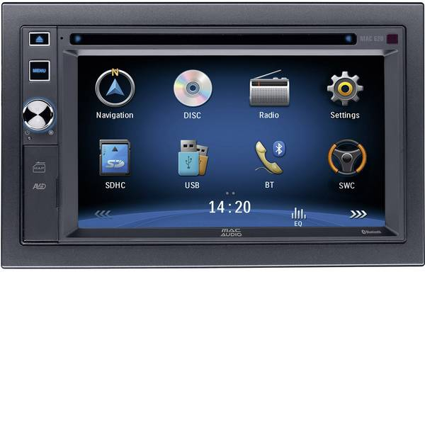Autoradio e Monitor multimediali - Mac Audio MAC 620 Moniceiver doppio DIN Vivavoce Bluetooth®, Collegamento per controllo remoto da volante -