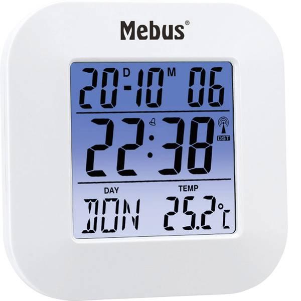 Sveglie - Mebus 51511 Radiocontrollato Sveglia Bianco -