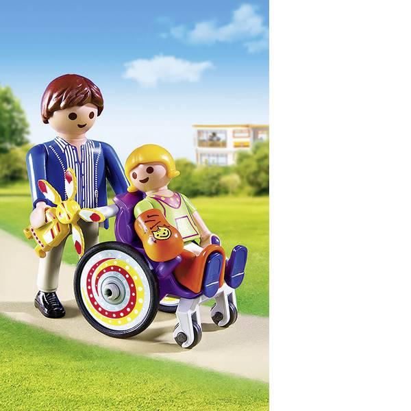 Personaggi da gioco - Play mobile - bambino in sedia a rotelle -
