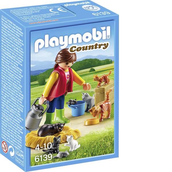 Personaggi da gioco - Play mobile - Gatto famiglia colorate -