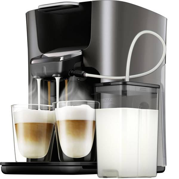 Macchine per caffè a capsule Senseo - Macchina per caffè con cialde SENSEO® HD6574/50 Latte Duo Plus HD6574/50 Antracite con contenitore latte -
