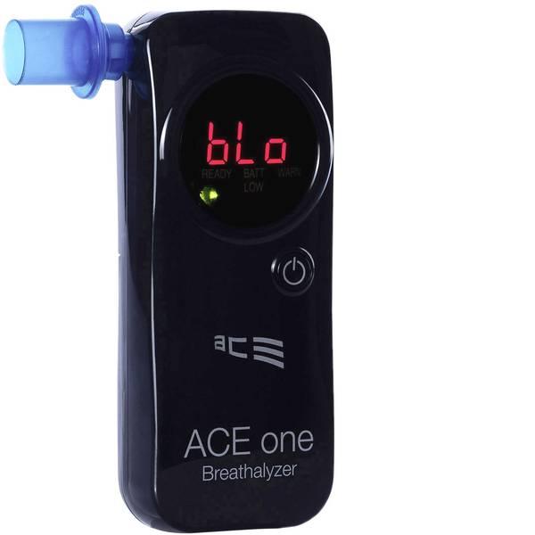 Etilometri - ACE one Etilometro Nero 0 fino a 4 ‰ incl. display, Funzione conto alla rovescia, Visualizzazione diverse unità -