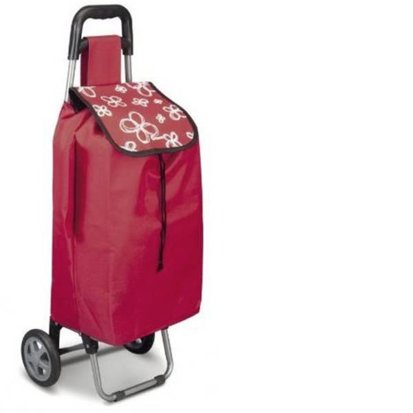 Aiuti per la vita quotidiana - Carrellino trolley per la spesa Daphne 40L rosso con custodia porta ombrello -