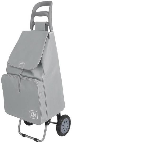 Aiuti per la vita quotidiana - Carrellino trolley per la spesa Metaltex Krokus 50 L grigio con tasca termica -