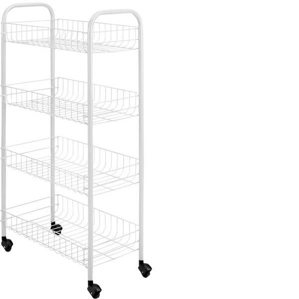 Utensili e accessori da cucina - Metaltex Pisa Carrello portatutto 4 piani 41x23x84cm -