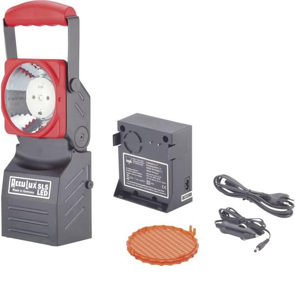 Torce con batterie ricaricabili - AccuLux 456441 Lampada da lavoro, Lampada portatile a batteria SL 5 LED Set Nero/Rosso LED 75 h -