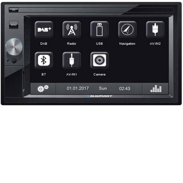Navigatori da incasso - Blaupunkt OSLO 370DAB Navigatore satellitare fisso da incasso Europa Sintonizzatore DAB+, Vivavoce Bluetooth®,  -