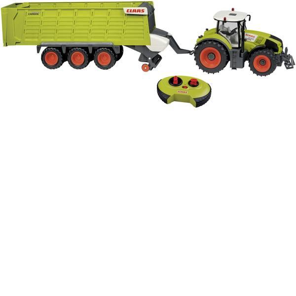 Trattori e mezzi da cantiere RC - Claas Axion Claas Cargos 870 + 9600 Modellino per principianti HAPPY PEOPLE 1:16 Veicolo agricolo incl. Batterie -