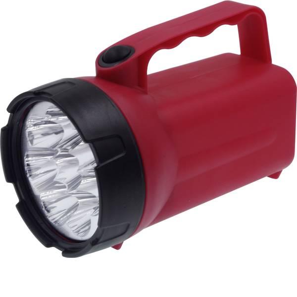 Torce con batterie ricaricabili - Ampercell 00838 Lampada portatile a batteria DIY 8 LED Rosso/Nero LED 60 h -