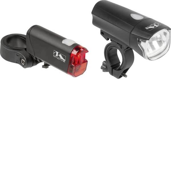 Luci per bicicletta - M-Wave Kit illuminazione bicicletta ATLAS K50 LED Nero -