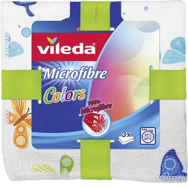 Pulizia della cucina e accessori - Panno multiuso microfibra Vileda Colors Design confezione da 3 pz -