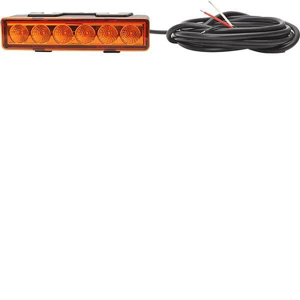 Lampeggianti e luci di segnalazione - WAS Lampeggiante anteriore W117 95898.1 12 V, 24 V via rete a bordo Montaggio, Montaggio, Montaggio a vite Arancione -