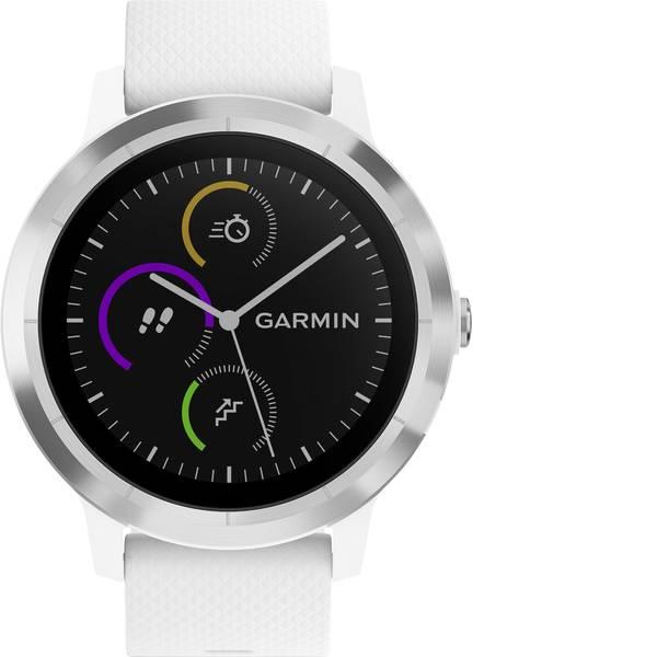 Dispositivi indossabili - Garmin vivoactive 3 white M/L Fitness Tracker L Bianco -