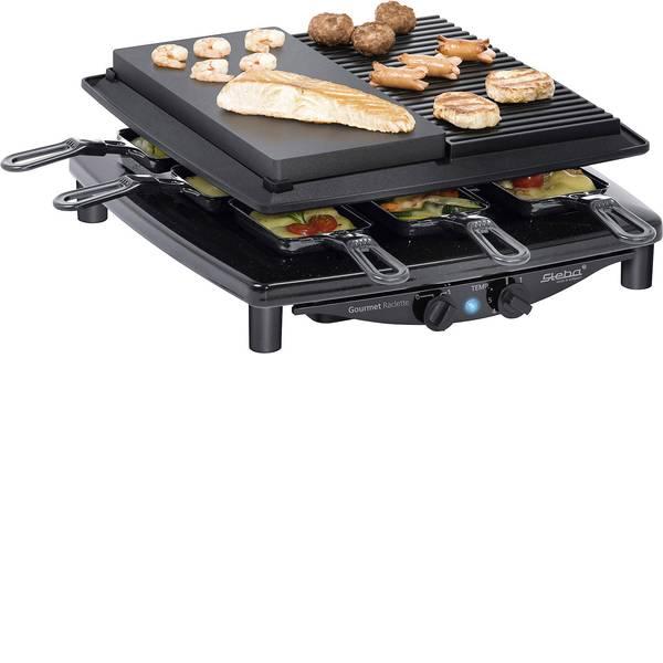 Raclette - Steba Germany RC4 plus deluxe Raclette 8 vaschette Nero -