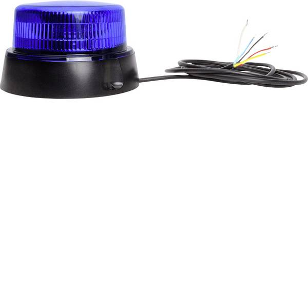 Lampeggianti e luci di segnalazione - WAS Luce a tutto tondo W126 Double Flash 867.4DSYNC 12 V, 24 V via rete a bordo Montaggio a vite Blu -