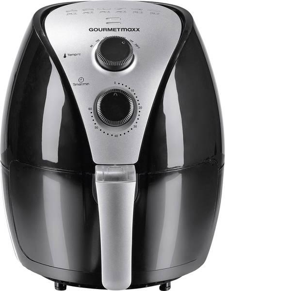 Friggitrici - GourmetMaxx 01361 Friggitrice ad aria calda 1500 W Funzione timer Nero -