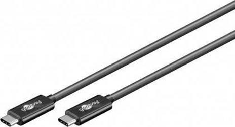 Goobay USB 3.1 Cavo di collegamento [1x Spina C USB 3.1 - 1x Spina C USB 3.1] 0.5 m Nero