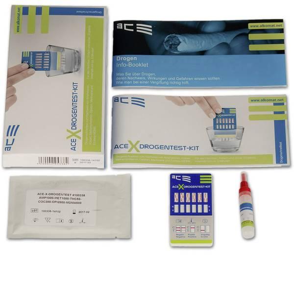 Tester anti droga - Kit test droga test urine, test di pulizia ACE Kit X 100338 Farmaci testabili=Anfetamine, Anfetamine, MDMA,  -
