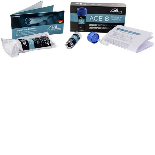 Tester anti droga - Kit test droga test saliva ACE Kit S 100341 Farmaci testabili=Anfetamine, Cocaina, Cocaina, Metamfetamine, Oppiacei,  -