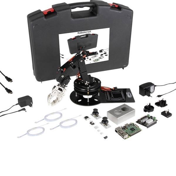 Schede di sviluppo e Single Board Computer - Raspberry Pi® 3 B Robo-Set 1 GB 4 x 1.2 GHz incl. braccio robotico, incl. controller, incl. dissipatore, incl. cavo di  -
