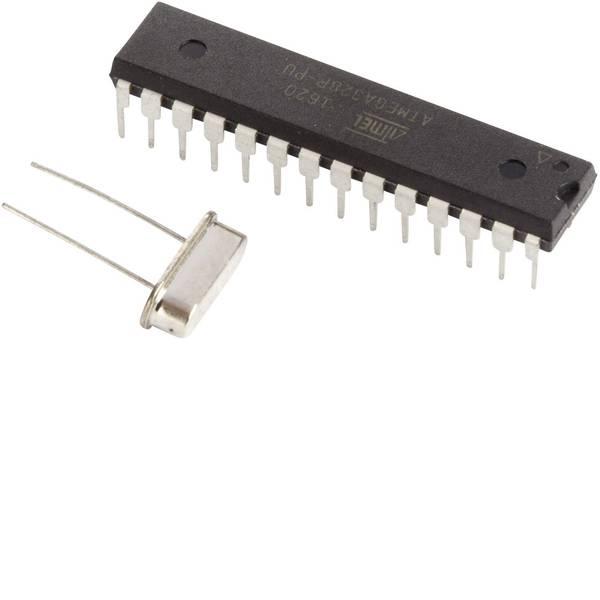 Moduli e schede Breakout per schede di sviluppo - Makerfactory MCU ATMEGA328P IC con Arduino® UNO boot loader e 16 MHz oscillatore al quarzo -