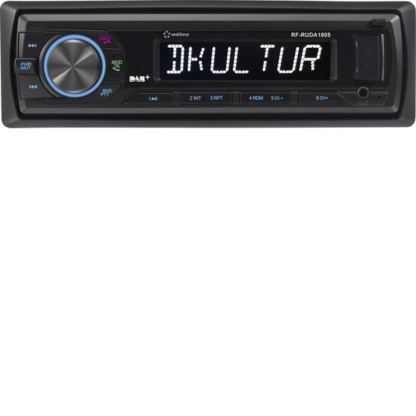 Autoradio e Monitor multimediali - Renkforce RUDAB-1805 Autoradio Sintonizzatore DAB+, incl. Antenna DAB, Vivavoce Bluetooth® -
